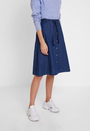 SKIRT WITH POCKETS - A-lijn rok - blue denim