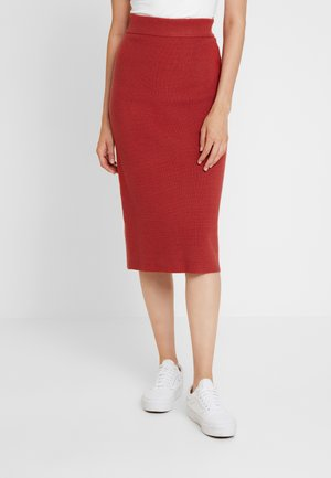 SKIRT - Jupe crayon - dry red