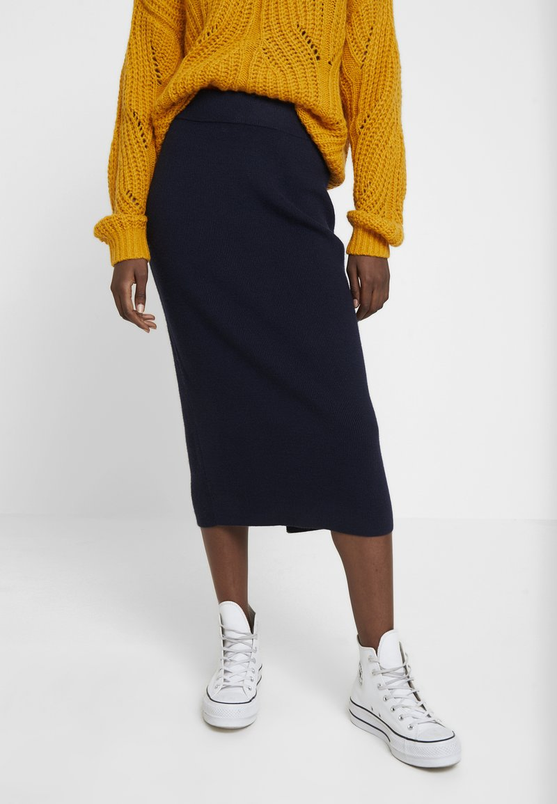 TOM TAILOR - SKIRT - Pencil skirt - sky captain blue