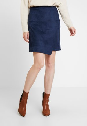 SKIRT VELOURE - Minisukně - sky captain blue