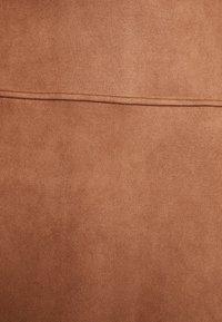 TOM TAILOR - SKIRT VELOURE - Minirok - brown oak - 5