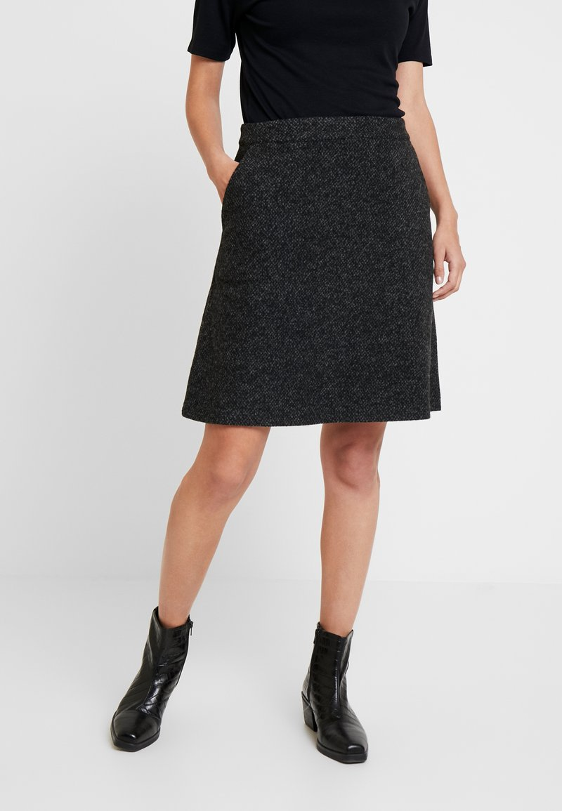 TOM TAILOR - SKIRT ASHAPE SALT AND PEPPER - Jupe trapèze - grey/black