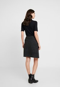 TOM TAILOR - SKIRT ASHAPE SALT AND PEPPER - Jupe trapèze - grey/black - 2