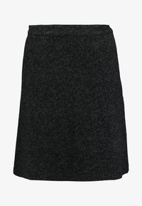TOM TAILOR - SKIRT ASHAPE SALT AND PEPPER - Jupe trapèze - grey/black - 4