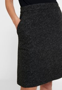 TOM TAILOR - SKIRT ASHAPE SALT AND PEPPER - Jupe trapèze - grey/black - 5
