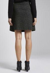 TOM TAILOR - A-line skirt - grey black - 1