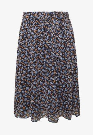SKIRT CHIFFON - A-line skirt - navy/floral design
