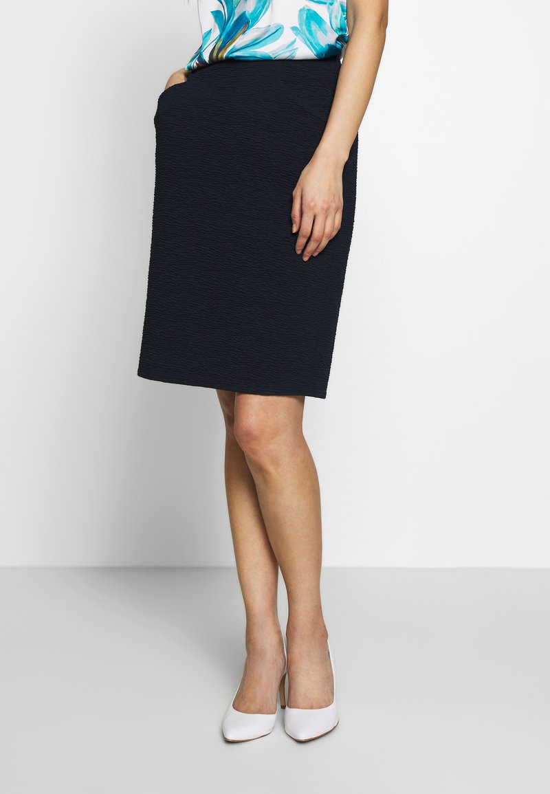 TOM TAILOR - SOLID STRUCTURE - Pencil skirt - sky captain blue