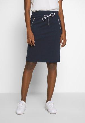 SKIRT WITH ZIP POCKETS - Pencil skirt - sky captain blue