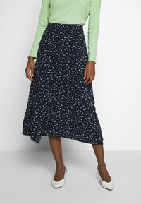 TOM TAILOR - SKIRT - Omslagsskjørt - dark blue - 0