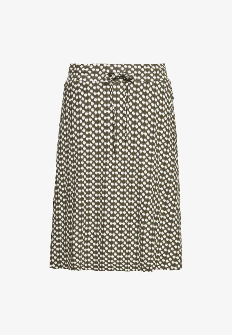 TOM TAILOR - SKIRT PRINTED - A-line skirt - khaki