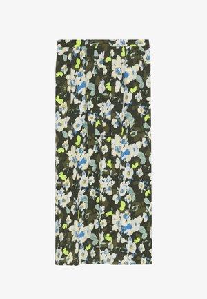 SKIRT PRINTED - Maxi skirt - khaki/green