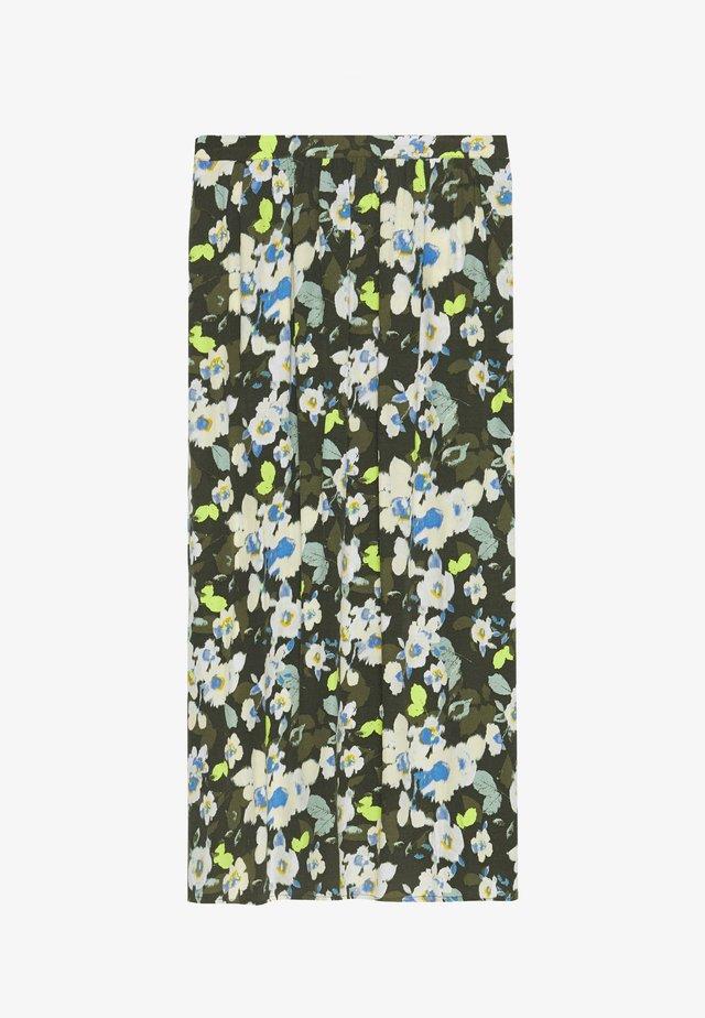 SKIRT PRINTED - Długa spódnica - khaki/green