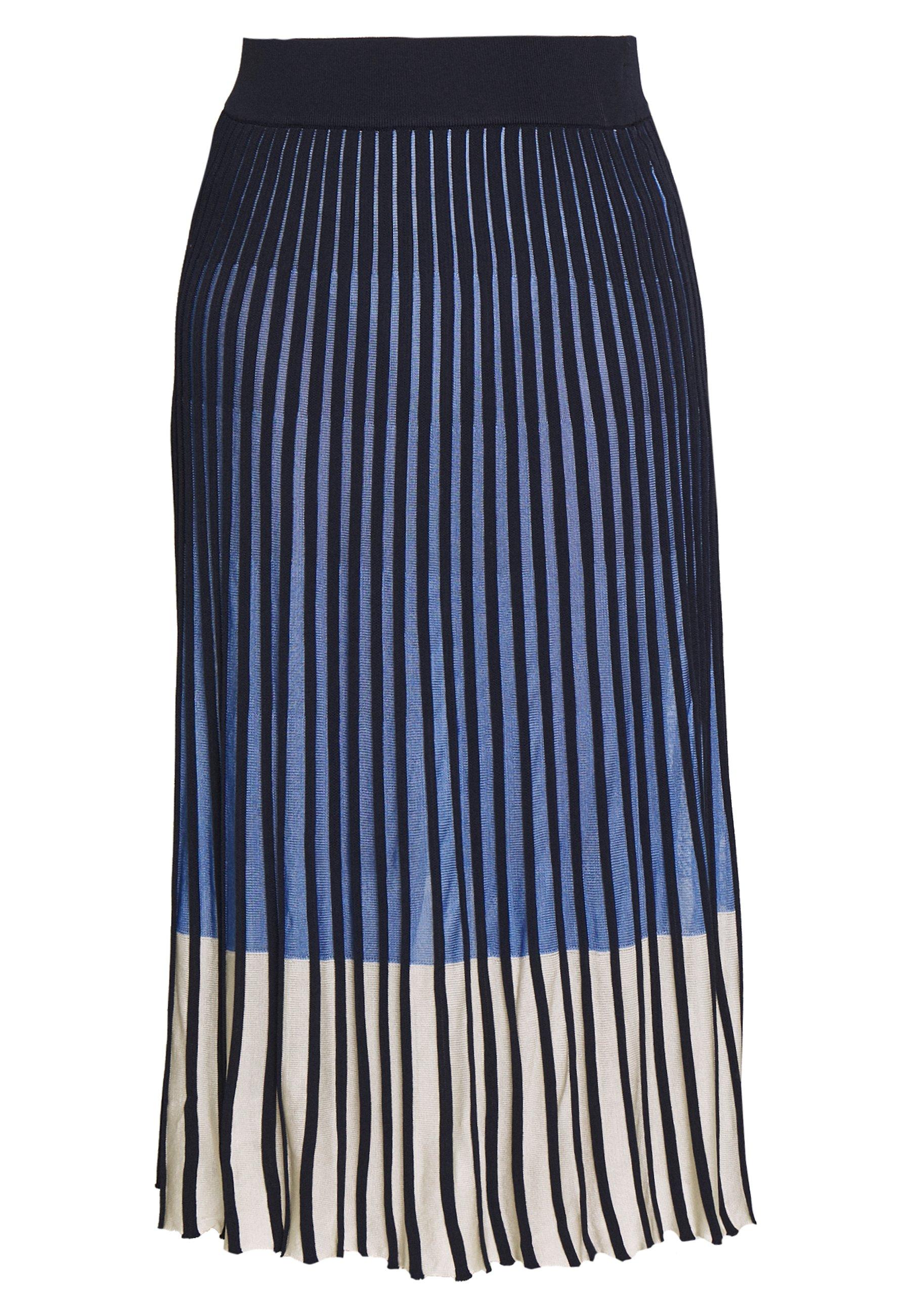 TOM TAILOR SKIRT MODERN PLISSEE - Spódnica trapezowa - sea blue