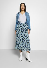 mine to five TOM TAILOR - SKIRT PRINTED - A-line skirt - navy - 1