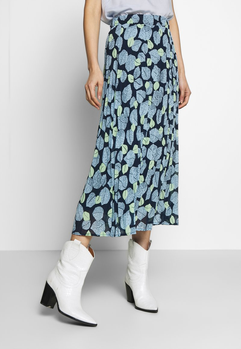 mine to five TOM TAILOR - SKIRT PRINTED - A-line skirt - navy