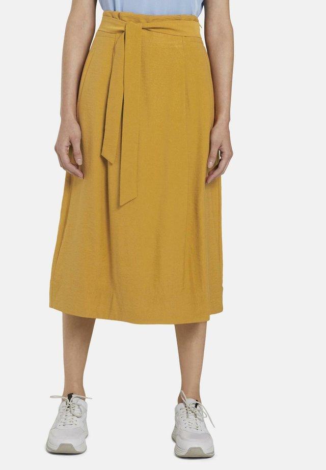 A-line skirt - clay beige