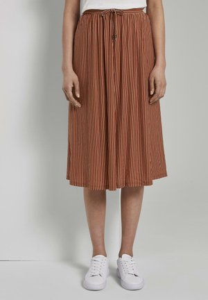 A-line skirt - brown white stripe