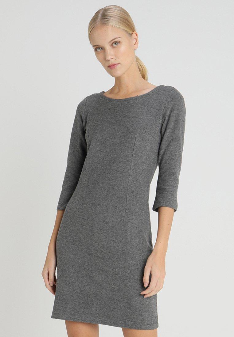 TOM TAILOR - MY COSY CASUAL DRESS - Etui-jurk - grey melange