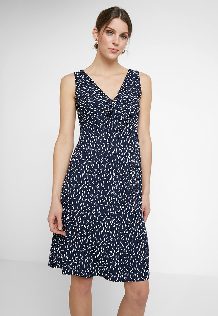 TOM TAILOR - DRESS PRINTED - Robe d'été - navy