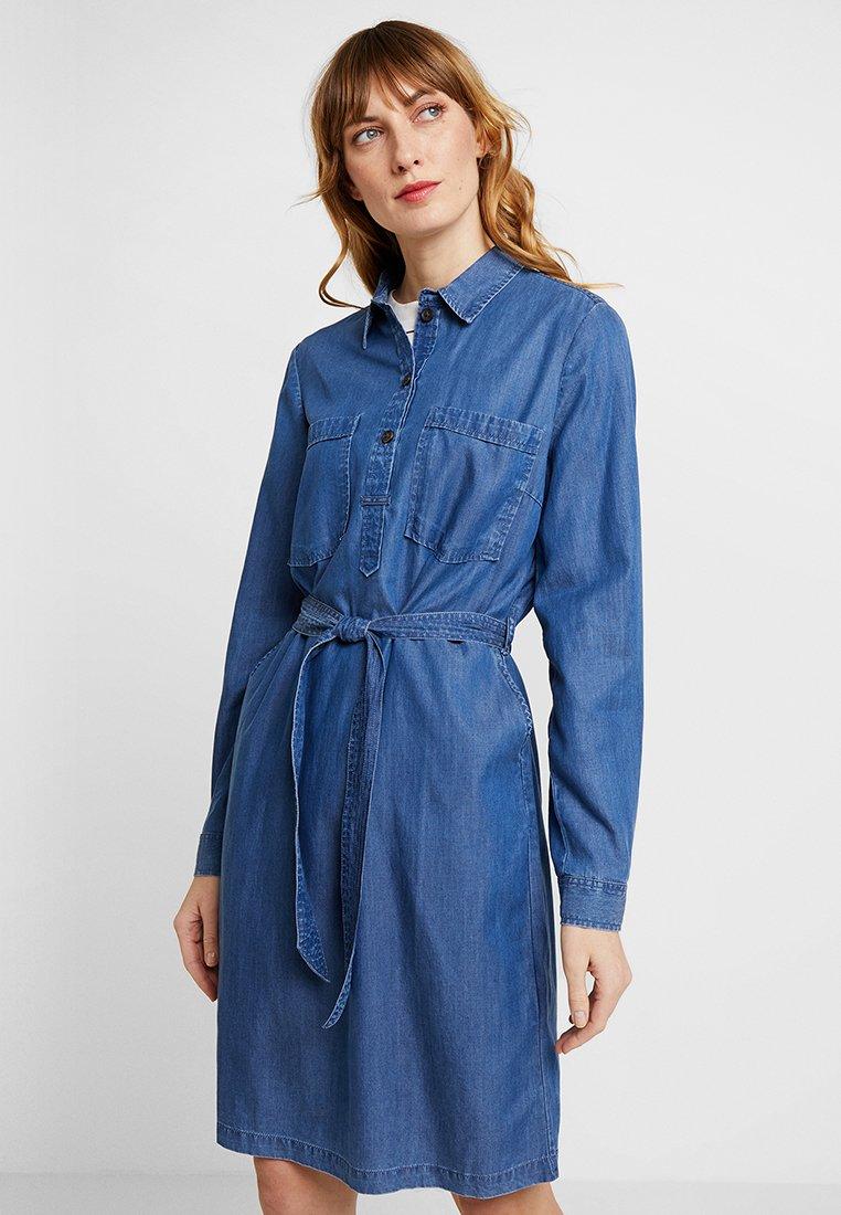 TOM TAILOR - EASY FIT DRESS - Jeanskleid - blue denim