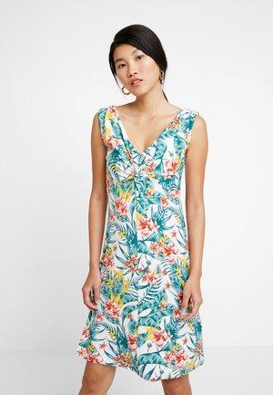 DRESS KNOT PRINTED - Sukienka z dżerseju - offwhite