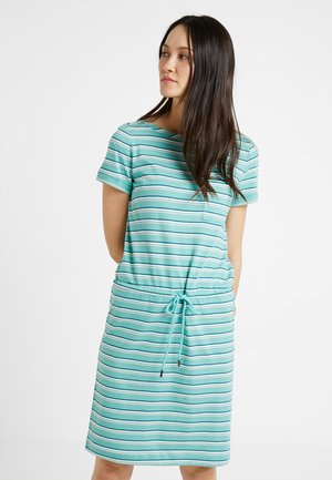 DRESS STRIPED - Trikoomekko - green