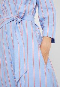 TOM TAILOR - DRESS WITH STRIPES - Blousejurk - blue/orange - 6