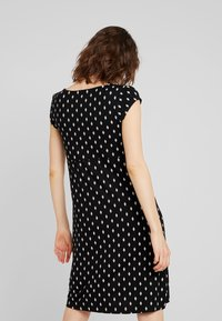 TOM TAILOR - DRESS PRINTED V-NECK - Jersey dress - black/white - 2