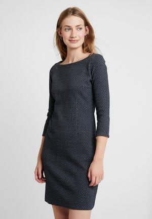 SOLID STRUCTURE DRESS - Etuikjole - navy/grey