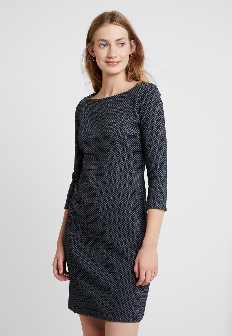 TOM TAILOR - SOLID STRUCTURE DRESS - Etuikleid - navy/grey