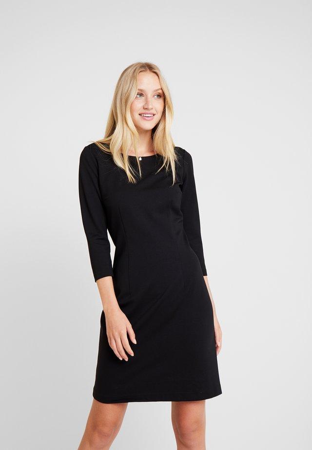 DRESS PUNTO DI ROMA - Shift dress - deep black