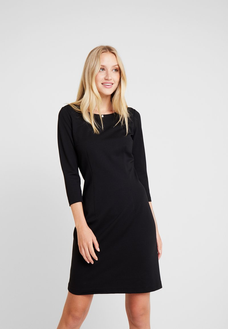TOM TAILOR - DRESS PUNTO DI ROMA - Shift dress - deep black