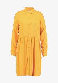 TOM TAILOR - DRESS WITH TURN UPS - Košilové šaty - merigold yellow - 6