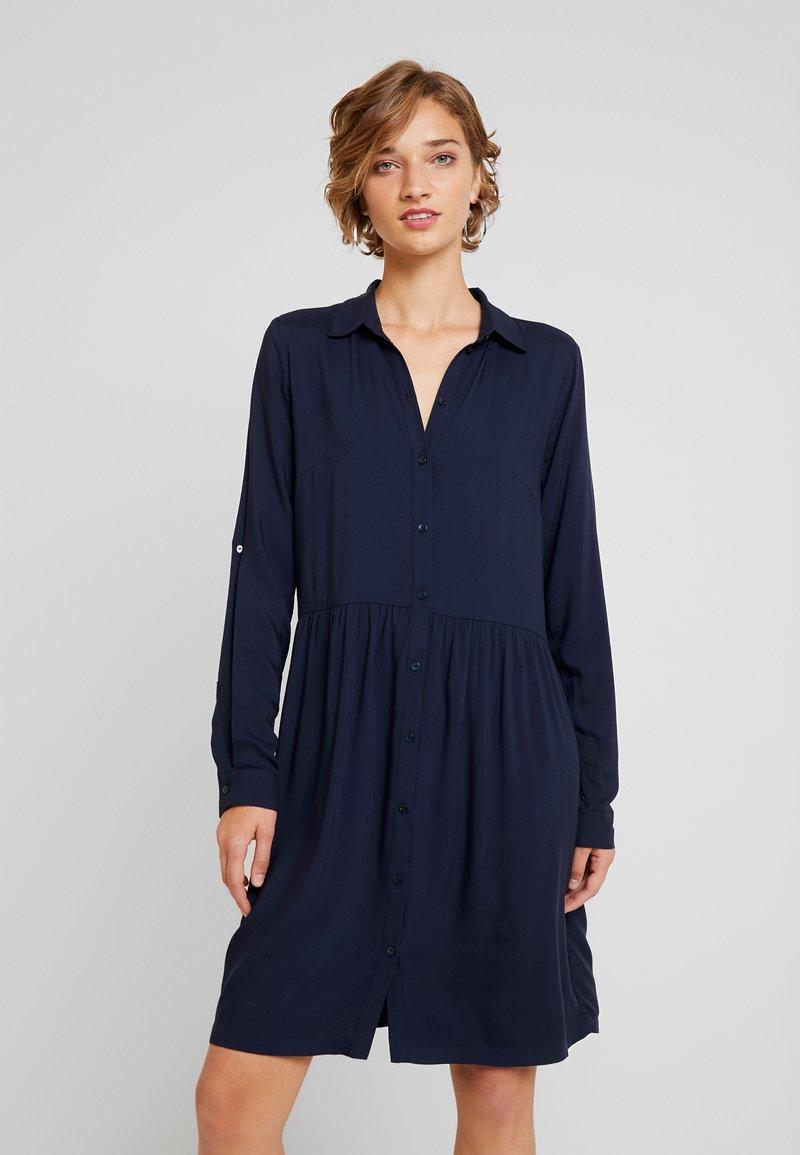 TOM TAILOR - DRESS WITH TURN UPS - Blusenkleid - sky captain blue