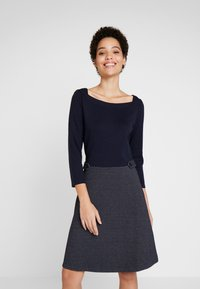 TOM TAILOR - DRESS 2 IN 1 STRUCTURED - Vestito estivo - sky captain blue - 0