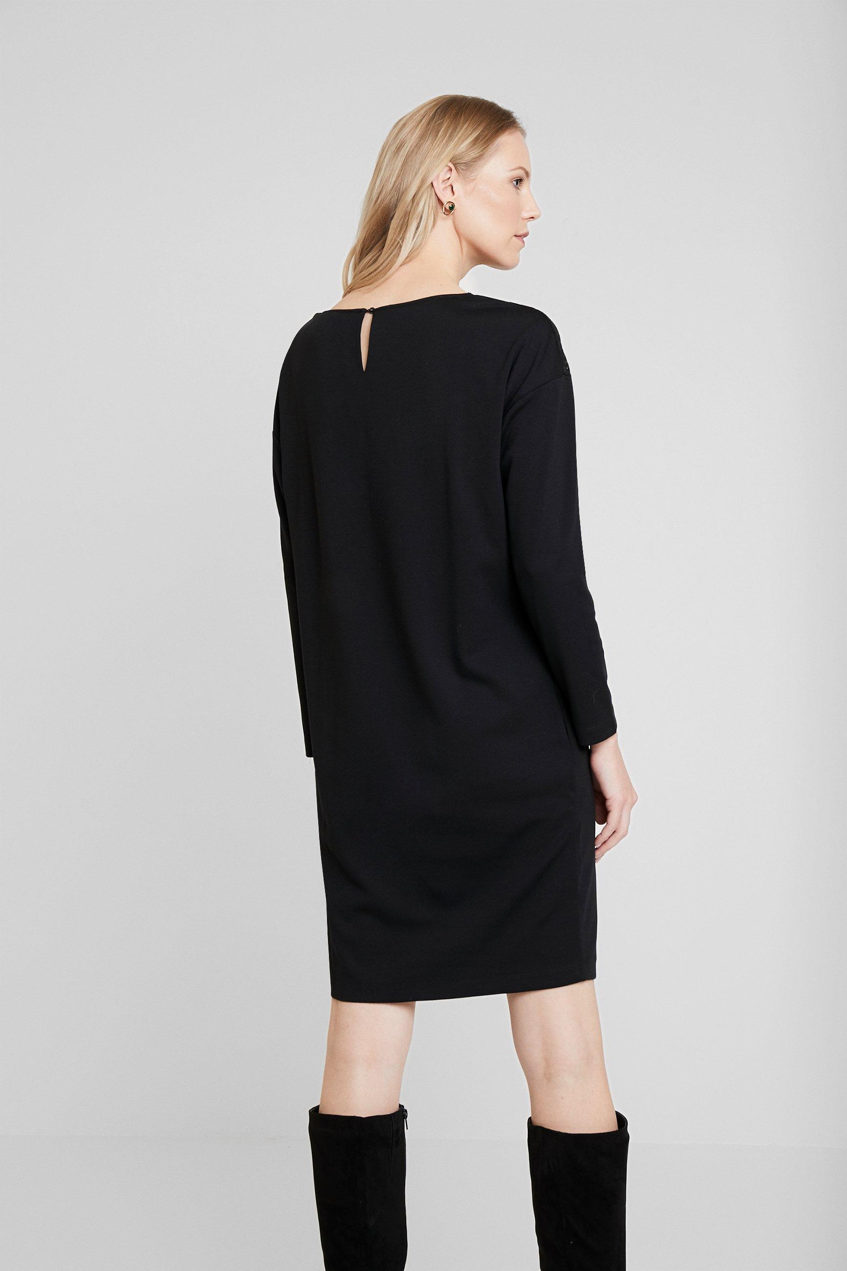 TOM TAILOR DRESS WITH INSERT - Jerseyklänning - deep black