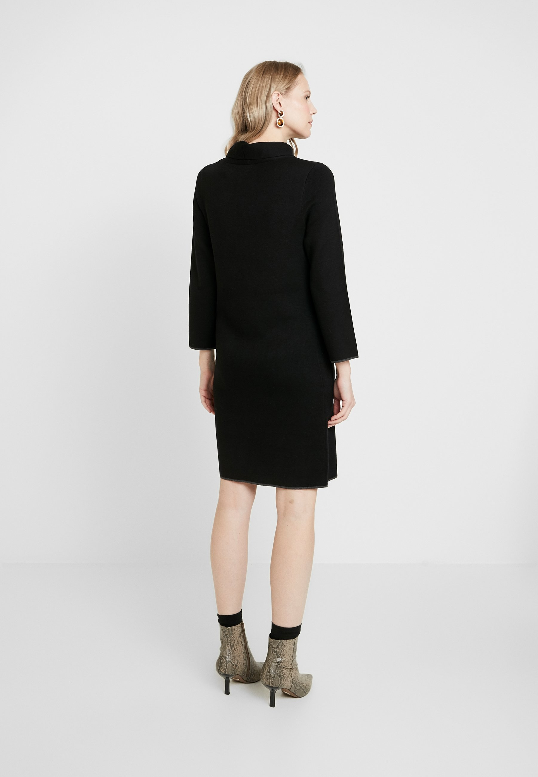 Tom Tailor Dress With Contrast Tippings - Jumper Deep Black UK