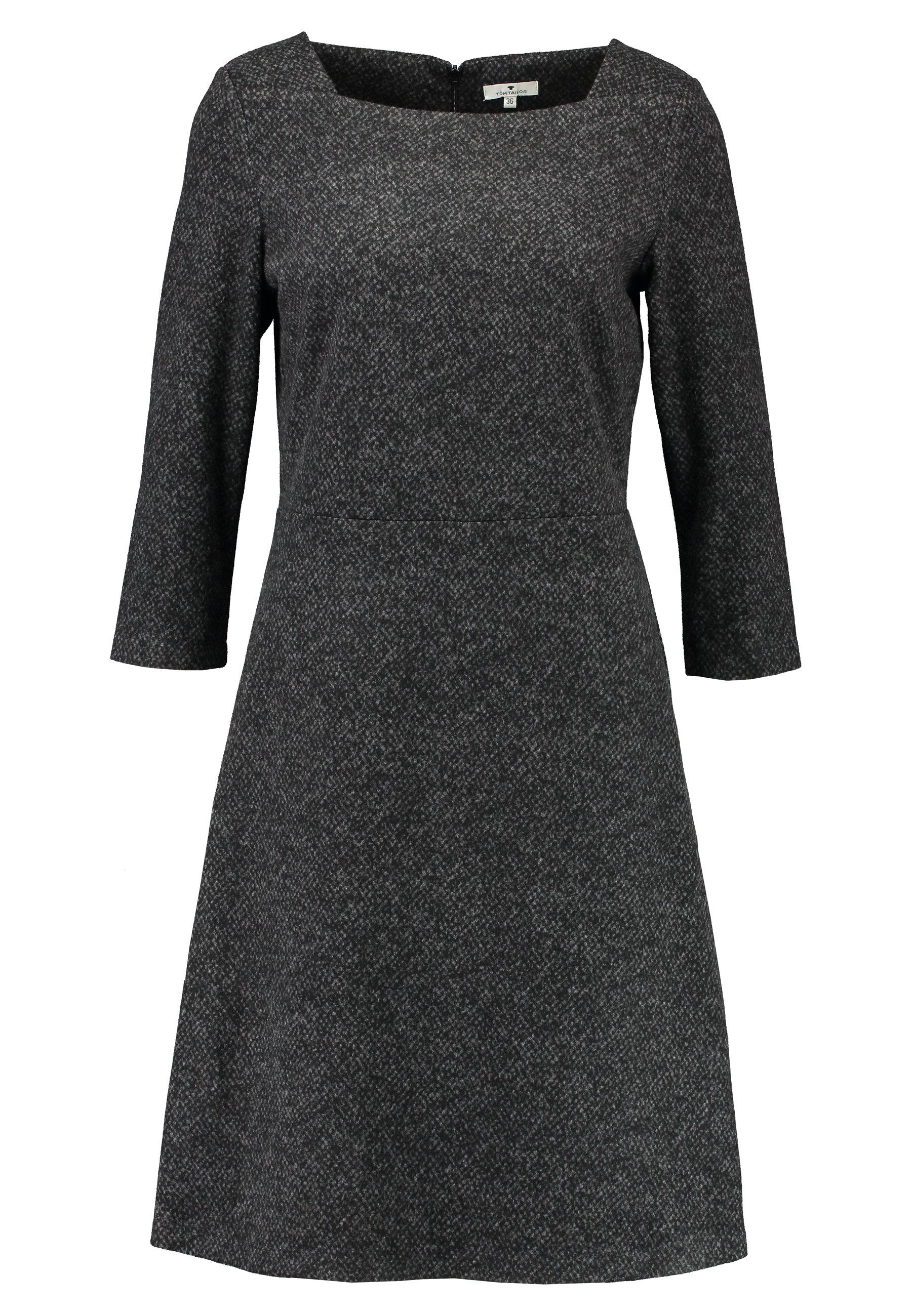 TOM TAILOR DRESS A-SHAPE SALT AND PEPPER - Tubino - grey black 1uBPDJM9