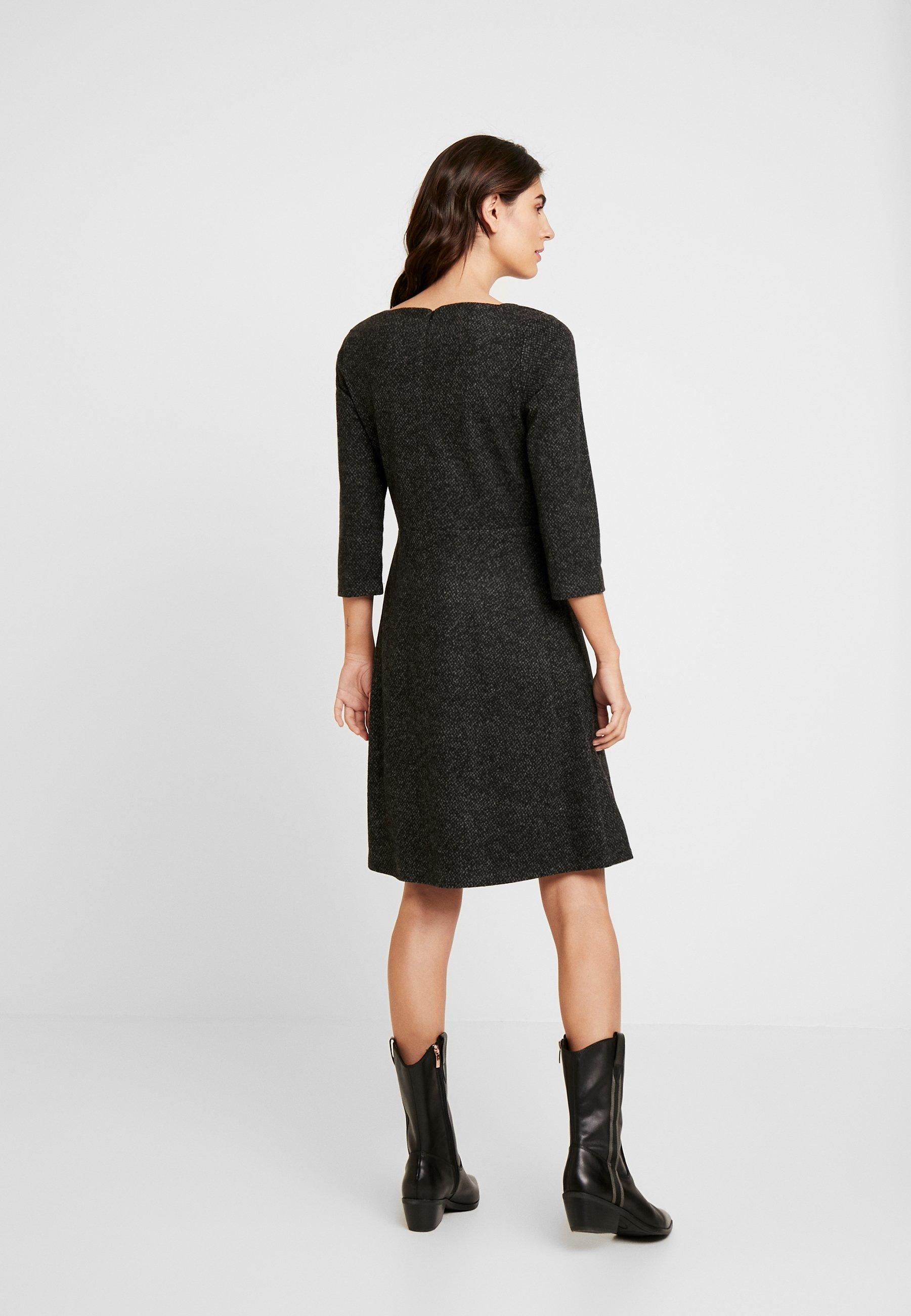TOM TAILOR DRESS A-SHAPE SALT AND PEPPER - Fodralklänning - grey black