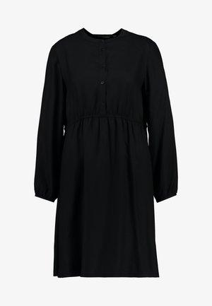 SHORT EASY BUTTON DRESS - Skjortekjole - deep black