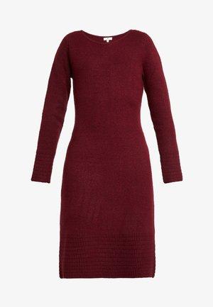 DRESS - Jumper dress - deep burgundy red