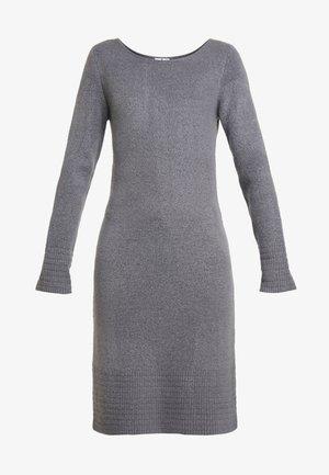 DRESS - Gebreide jurk - anthracite melange
