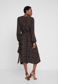 TOM TAILOR - MIDI WRAP DRESS - Kjole - black
