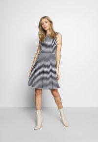 TOM TAILOR - DRESS FESTIVE FEMININE - Day dress - navy/offwhite - 1