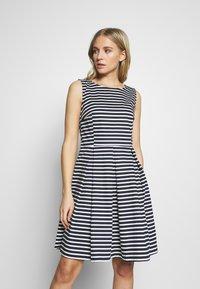 TOM TAILOR - DRESS FESTIVE FEMININE - Day dress - navy/offwhite - 0