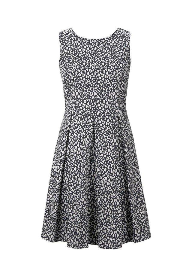 DRESS FESTIVE FEMININE - Korte jurk - navy small leo design