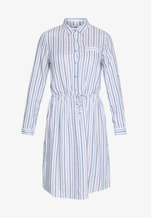 DRESS WITH STRIPES AND COLLAR - Abito a camicia - blue