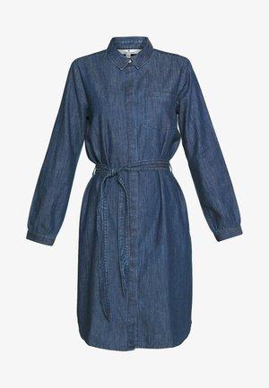 DRESS WITH TIE - Spijkerjurk - dark stone wash denim