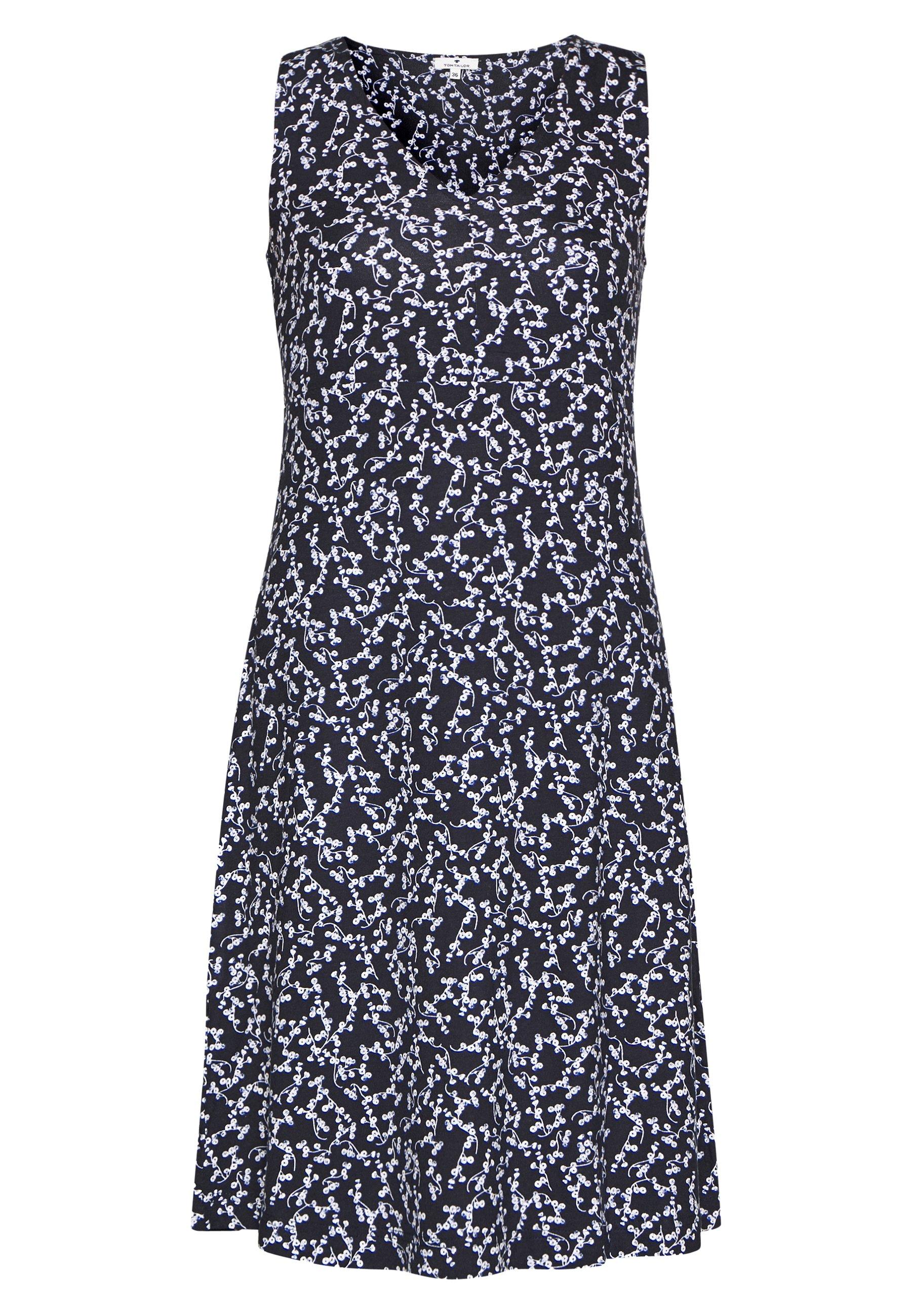 Tom Tailor Dress Basic - Jerseykjoler Navy/flowery Design